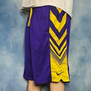 Nike Gym Shorts Lakers Colorway